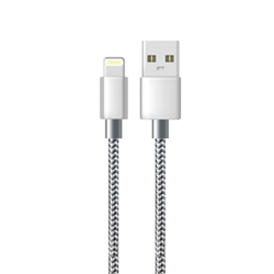 Picture of iPhone Charger Cable Alfa Lightning Cable Silver 1-2-3M