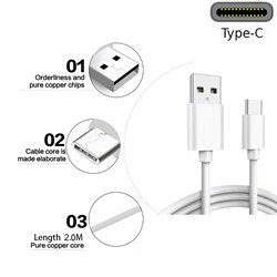 Picture of Genuine Samsung Fast USB Type-C Data Charger Cable For Galaxy A21 A21S A31 A41