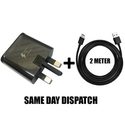 Picture of Genuine Samsung Fast Charger Plug & 2M USB Cable For Galaxy J1 J2 J3 J5 J7 Lot