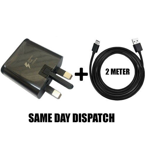 Picture of Genuine Samsung Fast Charger Plug & 2M USB Cable For Galaxy J3 J5 J7.