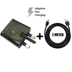 Picture of Genuine Samsung Fast Charger Plug & 2M USB-C Cable For Galaxy A70s A80 2019 Lot
