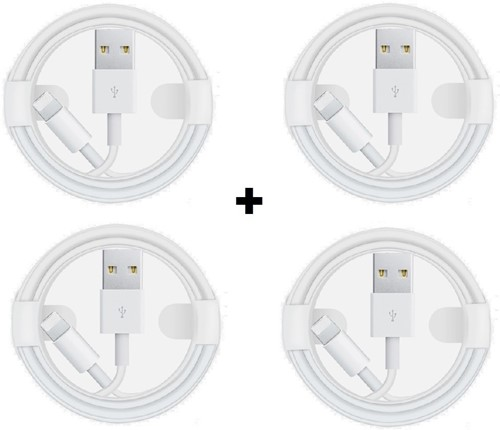 Picture of Pack Of 4 Apple iPhone XS Max, XS, X,8,8+,7,6,5 Fast USB Lightning Cable