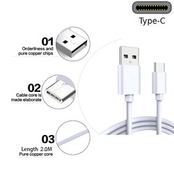 Picture of 3M Long USB-C Data Sync Lead Charger Cable For Samsung Galaxy A51 5G / A71 5G UK