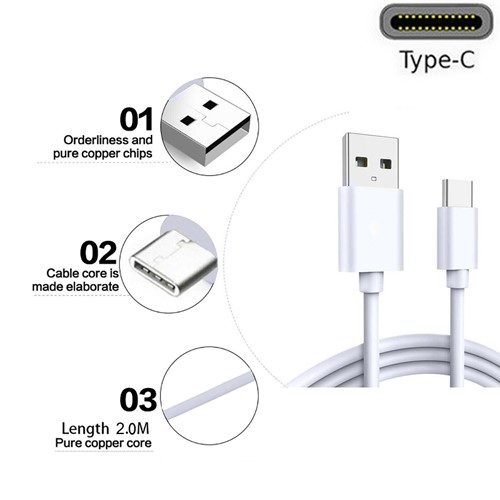Picture of New USB Type C Charger Cable Data Sync Lead For Samsung Galaxy A51 A21 A21s A31 A41