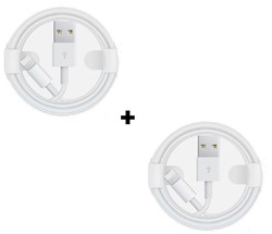 Picture of Pack Of 2 Apple iPhone 6/7/8/8+/XR/XS  XS Fast USB Lightning Cable