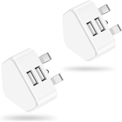 Picture of Pack of 2 Dual Port 3 Pin Adapter for all Apple iphone models