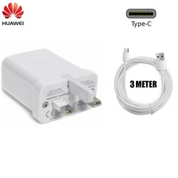 Picture of Genuine Huawei Super Charge Fast UK Charger Plug &3M Long USB-C Cable For Phones