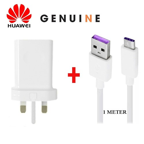 Picture of Genuine Huawei Mate 20 30 Pro X Super Charge Fast Mains Charger Plug USB-C Cable