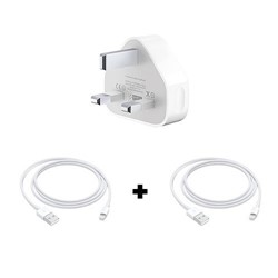 Picture of Apple iPhone XS Max Power Charging Adapter and 2 USB Lightning Cables