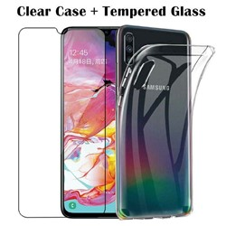 Picture of For Samsung Galaxy A10e Glass Screen Protactor & Back Case.