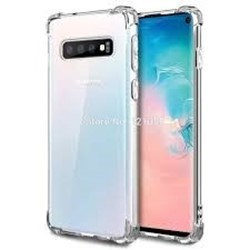 Picture of Full Tempered Glass Screen Protector & Back Cover Case For Samsung S10 Plus Silicone Clear  Cover
