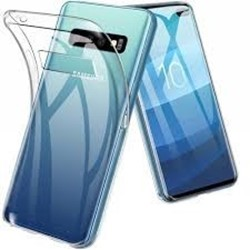 Picture of Full Tempered Glass Screen Protector & Cover Case For Samsung  S10e Silicone Clear Cover