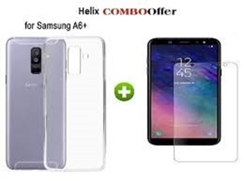Picture of Tempered Glass Screen Protector & Back Case For Samsung Galaxy J6