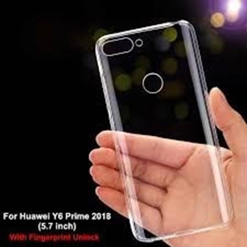 Picture of Genuine Transparent Mobile Phone Cover Case & Screen Protector For Huawei Y 6 Pro 2019