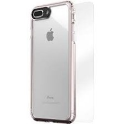 Picture of Silicon Glass Back Case & Adapter For Apple Iphone 8.