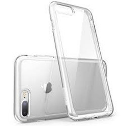 Picture of Silicon Glass Back Case & Adapter For Apple Iphone 8 Plus.