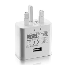Picture of Dual USB 2.1Amp Mains Adapter Charger Plug & 2M USB Type-C Data Cable For Phones