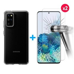 Picture of FOR SAMSUNG Galaxy S20+ Screen Protector & Transparent Back Case
