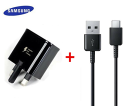 Picture of Samsung Fast Charging Plug &1M USB-C Cable For Samsung Galaxy Phones