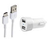 Picture of Dual Port 17Watt 3.4AMP USB Car Charger Adapter    White