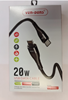 Picture of Super Fast 20W Charging USB-C to Lightning Cable   Ven Dens - Black (VD-0322)