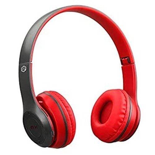 Picture of SH22 Folding Bluetooth V4.0 Wireless Headset Stereo Over Gaming Earphones   Black & Red