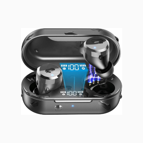 Picture of ALPHA T12 Wireless Earbuds Bluetooth Headphones Premium Fidelity Sound Quality With Wireless Charging Case Digital LED Intelligence