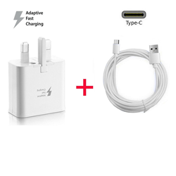 Picture of Genuine Samsung Fast Charger Adapter & 3M USB-C Cable For Galaxy A51 A71 A90 5G