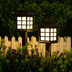 Picture of Solar Walkway Lights for Garden, Landscape, Path, Yard, Patio, Driveway