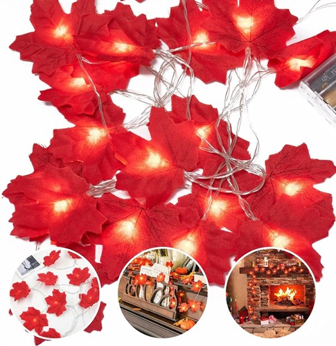 Picture of Autumn Decorations, Fairy Lights, 20 Maple Leaf Light, Indoor Lights