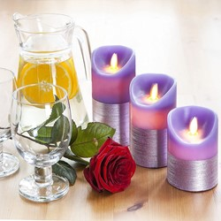 Picture of Purple LED Candles Realistic Flicker Moving Flame