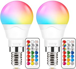 Picture of LED Colour Changing Light Bulbs with Remote Control